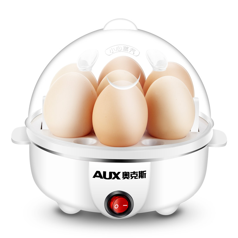 220V AUX Multifunctional Electric Egg Boiler Anti-dry Burning Auto-Off Egg Steamer Household Mini Breakfast Machine<br>