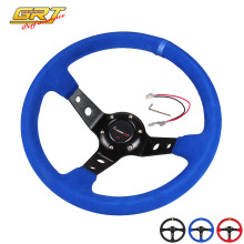 Ryanstar Steering wheel ID=14inch 350mm OMP Deep Corn Drifting Steering Wheel/Suede Leather Steering wheels 3 colors