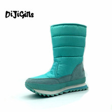 Water-resistant 2017 slip-resistant berber fleece thermal snow shoes snow boots female boots lovers design
