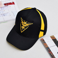 Pokemon Go embroidery Unisex Adjustable Cosplay Baseball Cap Team Valor Mystic Instinct Snapback hip hop caps yellow red blue
