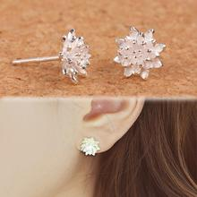 Fine Jewelry Fashion New Exquisite Design Earings For Women Romantic Lotus Flower Stud Earrings