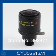 "cctv camera lens2.8-12mm Fixed Iris lens, 1/2.7""  12x0.5 Mount  Fixed F1.4  for Security Camera, Free shipping"