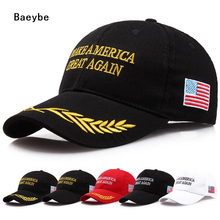 Trump cap hat Make America Great Again presidential election Donald John Trump adjustable trucker sun cap hat(China)