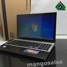 Free Shipping 15''gaming laptop notebook computer 4GB DDR3 250GB HDD in-tel celeron J1900 2.0Ghz Quad Core WIFI webcam HDMI DVD(China)