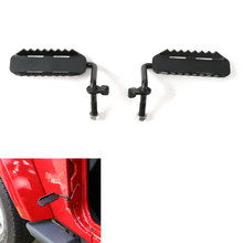 Car Exterior Door Hinge Foot Pedal Pegs Rest For Wrangler 2007-2016 Doorless Black 600g Car Styling Auto Parts Accessories