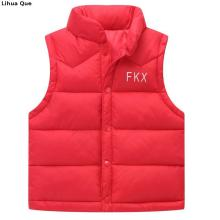 Autumn Winter 2017 Boys Girls Vest Jacket light white duck down vest Kid Cotton Waistcoat baby Vest Solid Single Breasted Liner(China)