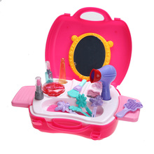 Kids Toys Plastic Pretend Play Simulation Cosmetic Case Makeup Toy with Box Baby Play House Toys for Girls Childen(China)