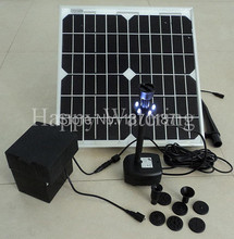 12W 500L/H Fountain Solar Fountain Solar Water Pump+ Battery+ LED Lignts Wholesale Dropshipping