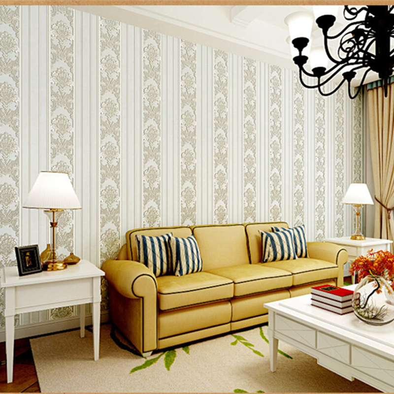 Classic 3D Wallpaper Roll European Floral Vertical Stripes Desktop High-end Luxury Wall Paper for Living Room Study Meeting Room<br>
