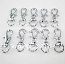 50 Pieces of Chromium Plated Metal Keyring Keychain Lobster Clasp Swivel Clips Snap Hook