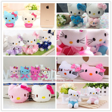 UP 8Designs - Super Kawaii Hello Kitty Gift Wedding Plush Toy , 3cm-11cm Multi Sizes Plush Stuffed TOY DOLL(China)