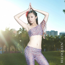Belly Dance Costumes Set leopard pattern tank top and long pants 2pc set tribal style practice dancewear Hot For Sale SF44