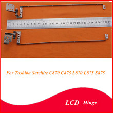 New Laptop LCD Hinge for Toshiba Satellite C870 C870D C875 C875D L870 L875 S875 P/N:H00037550 H00037560 LCD Notebook Hinges(China)