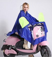 Thicker Oxford Unisex Long Rain Poncho Waterproof Hooded Motocycle Rain Coat Women Fashion Rain Cape Ponchos Raincoat Bicycle