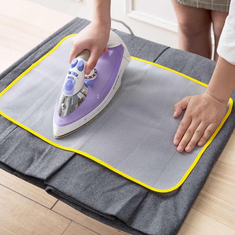 1PC Heat Resistant Cloth Mesh Ironing Board Mat Clothes Cover Protect Ironing Pad 60*40cm 50*35cm Random Color New