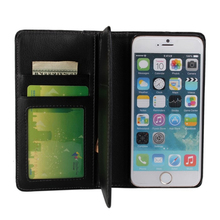 For iPhone 6 6S Leather Case Luxury Flip Wallet Photo Frame With Card Slot Stand Black Holder For Apple iPhone6 6 S Back Cover(China)