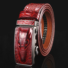 Designer belts men high quality cowhide genuine leather belt crocodile logo mens belts luxury riem kemer male strap PD073
