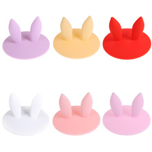 Rabbit Ear Cartoon Fruit Dustproof Reusable Silicone Cup Cover Coffee Magic Suction Seal Lid Cap Silicone Airtight Lid