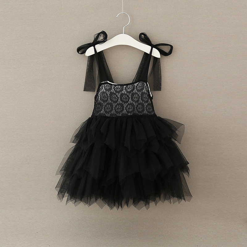 2017 Orignal Black Puffy Girls Dress Shoulderless Baby Girls Party Dresses Wedding New Year Birthday Wholesale Clothes Wholesale