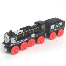 PAINT HIRO Original Thomas And Friends Wooden Magnetic Railway Model Train Engine Boy / Kids Toy Christmas Gift