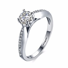 Wedding Rings New Promotion Romantic Four Claws of the Cubic Zirconia Jewelry Gift Rings Free Shipping R837(China)