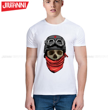 Tee Men Black T-Shirt Skull Print Heavy Metal Rock Hip Hop Clothing white short T shirts Male Tops Boy Funny Tee