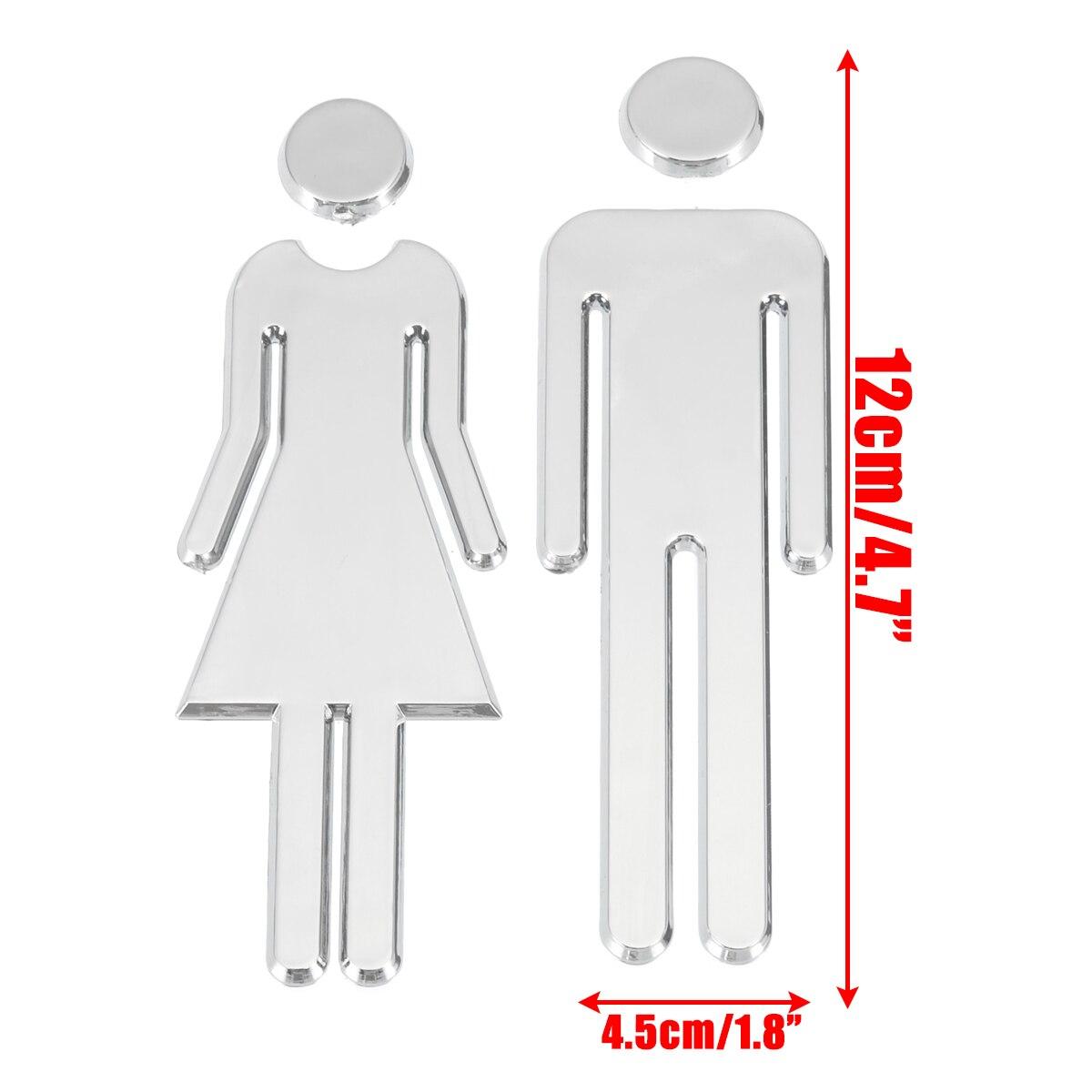 Adhesive MEN WOMEN Toilet Door Sign Bathroom Restroom WC Door Sign for WC Toilet Door Sign Sticker