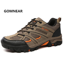 New Arrival Men's Hiking Shoes Breathable Anti-skid Waterproof Wear Resistant Leather Sport Shoes Male Fishing Climbing shoes