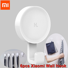 6pcs Original Xiaomi HL Wall Adhesive Life Hook Wall Mounted Mop Hook Bedroom Kitchen Wall Holder 3kg max load 3M Glue