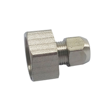"Pneumatic Air Nickel Plated Brass Compression Fitting Straight Female Connector 1/2"" Female BSP *6 mm OD(China)"