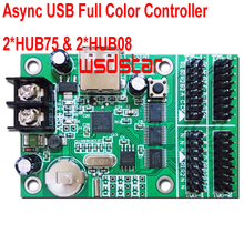 Cheap Async USB full color controller 768*32 384*64 2*HUB75 & 2*HUB08 Design for small size LED display 2pcs/lot