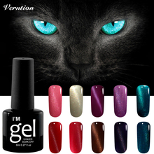 Verntion 3D Uv Gel Nail Polish LED Magnet Cat Eyes Color Soak Off 8ml Magnetic UV Lacquer Lucky Lamp for Gel Nail Polish(China)