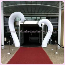 Romantic beautiful promotional illuminated inflatable pillar with LED light