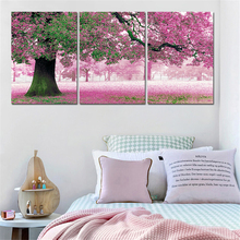 Perfect Painting Wall Decor 3Pcs Modern Canvas Art Posters Oil Painting Landscape Cuadros Decor Unframed Modular Wall Paintings