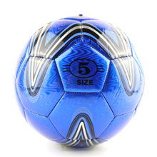 New Design PVC Slip-Resistant Standard Soccer Ball Size 5 Blue Star Sporting Football Balls Soft Touch Soccer For Adult
