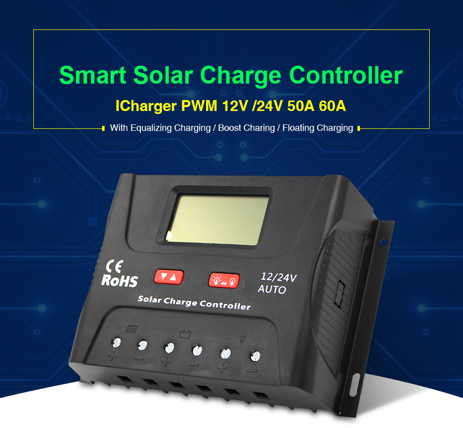 EASUN POWER Solar Controller Charge PWM 50A 60A LCD Voltage Regulator 12v 24v Solar Regulator Solar System Charger Controller_01