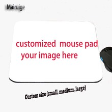 DIY Gives Us The Image You Like, Custom Printed Anti-slip Sliding Rectangle Rubber Mouse Pad for Advertising and Gift Giving(China)