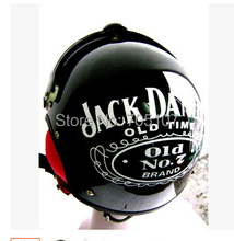2014 New JACK DANIEL'S AIR JET Helmet Pilots Flying Helmets Motorcycle Half Helmet Electric Bicycle Open Face Pilot Helmet