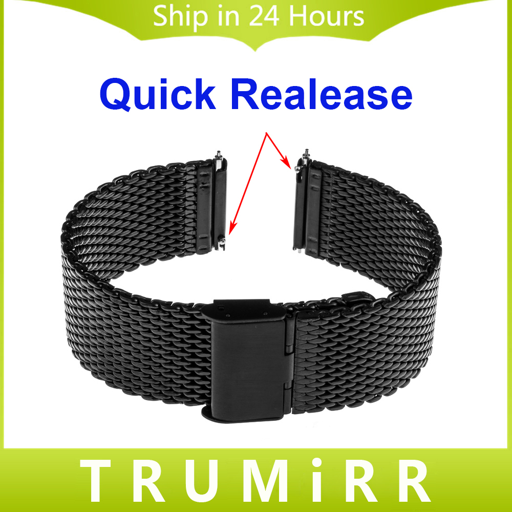 18mm 20mm 22mm Quick Release Watchband for Seiko Men Women Watch Band Milanese Mesh Stainless Steel Strap Wrist Belt Bracelet<br><br>Aliexpress