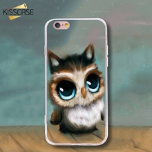 KISSCASE For iPhone 7 6 6s Plus 5s SE Case TPU Silicone Gel Cover Print Shell Cartoon Owl For Samsung S5 S6 S7 Edge Plus Note 5