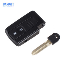 Dandkey 2 BUTTON REMOTE KEY CASE FOR TOYOTA PRIUS COROLLA VERSO TOY43 BLADE WITH LOGO