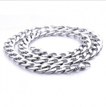 6/7/12mm Mens Figaro Chain Silver Tone Stainless Steel Necklace Chain High Quality Fashion Jewelry