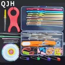 Multicolour Metal Hook Needle Set Knitting Needle Set Crochet Full Set Needle Crocheted Sweater Tools DIY Crafts S801-18(China)