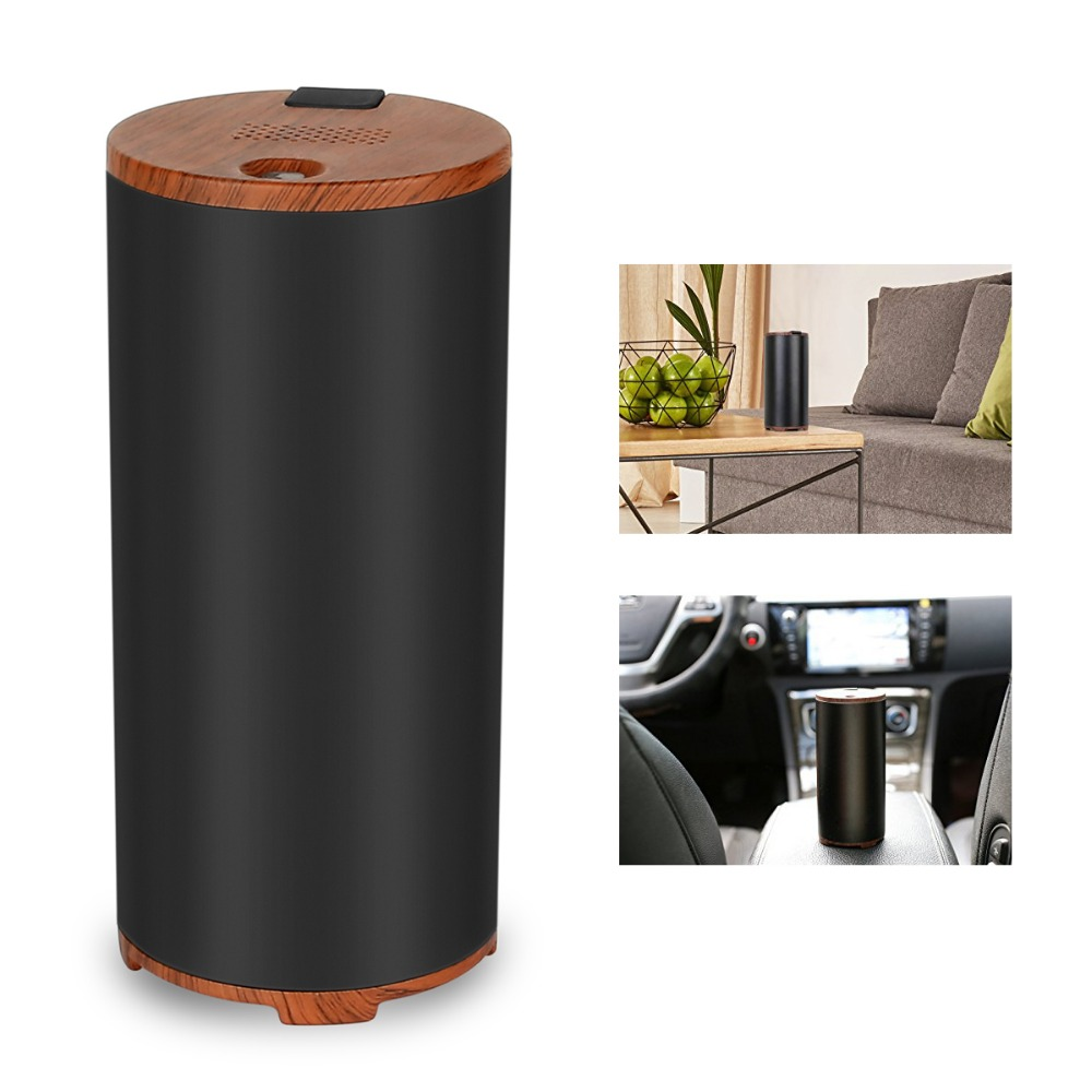 LAGUTE C01 1200mA Car Diffuser Ozone Air Purifiers Home Use By USB charging Black<br>