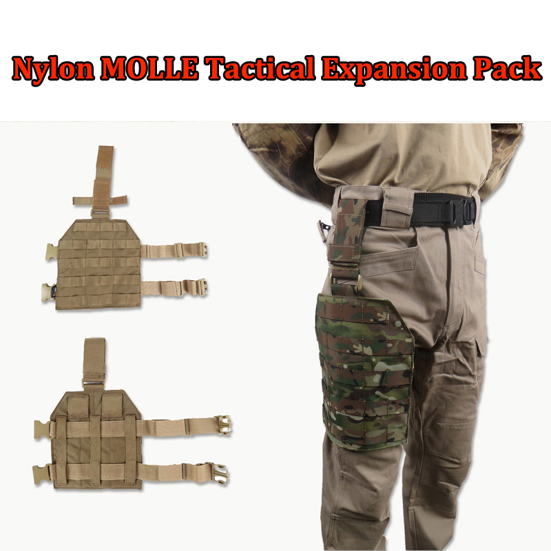 Tactical MOLLE leg hanging multi function expansion package high-quality 1000D nylon military army paintball gun hanging leg<br><br>Aliexpress