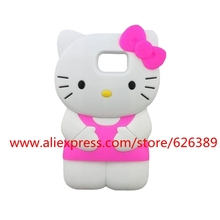 Hot Selling 3D Silicone Hello Kitty Design Phone Case Cover For Samsung Galaxy Note 5 4