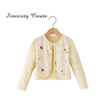 2017 New Cotton Polyester Thin Long Sleeve Baby Cardigan Long Sleeve For  Girls Children Clothing Girls Autumn Ssweaters KC-1558