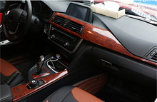 Imitation Wood Grain Protection Vinyl Film Scratch Car-styling Stickers And Decals Central Control Panel Interior Trim 30x100cm(China)