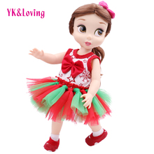 4Pcs Newest American Girl Doll Clothes Fashion Dot Tutu Skirt Handmade Fits 40cm Girl Christmas Birthday Gifts Hot Sale 4 Style(China)