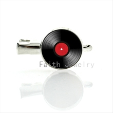 Vinyl Record picture glass dome hairgrips vintage LP DJ hair jewelry retro gramophone diso hairpins music lovers gift T141 T150